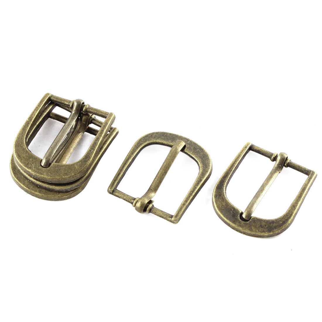 5pcs 29mmx25mm Retro Style Bronze Tone Single Prong Horseshoe Belt Buckle