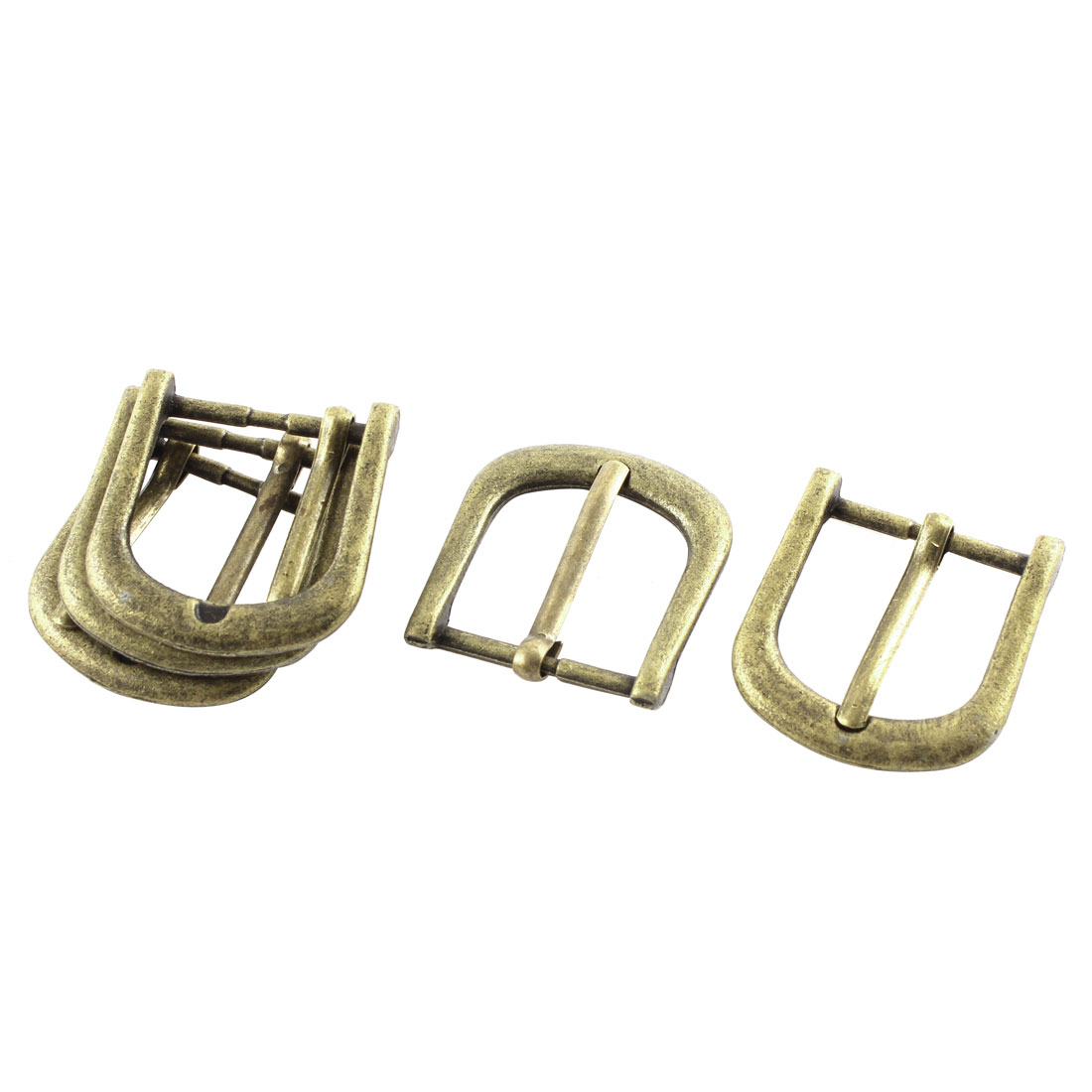 5pcs 34mmx32mm Vintage Style Bronze Tone Single Prong Horseshoe Belt Buckle