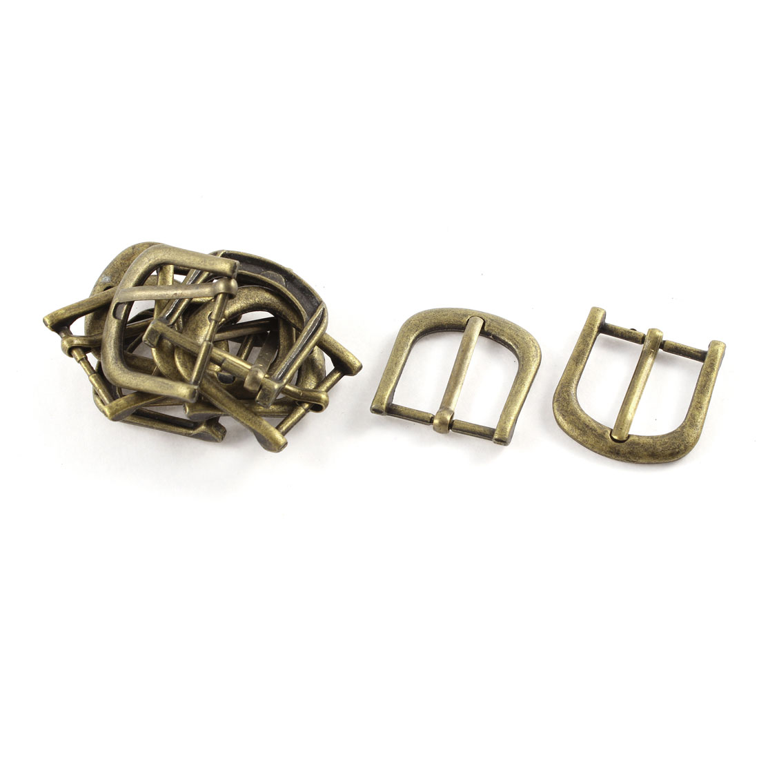 10pcs 34mmx32mm Retro Style Bronze Tone Single Prong Horseshoe Belt Buckle