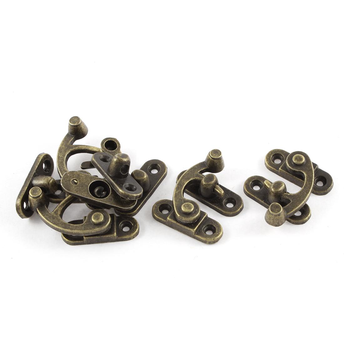 5pcs 33mmx29mm Retro Style Jewelry Cigar Box Decorative Hook Lock Latch