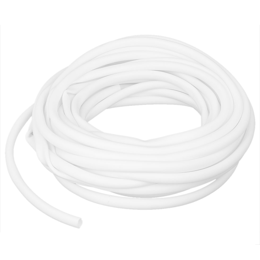 White Protective PVC Marking Tube Sleeve Sleeving 8mm x 8.5m for Cable Wire