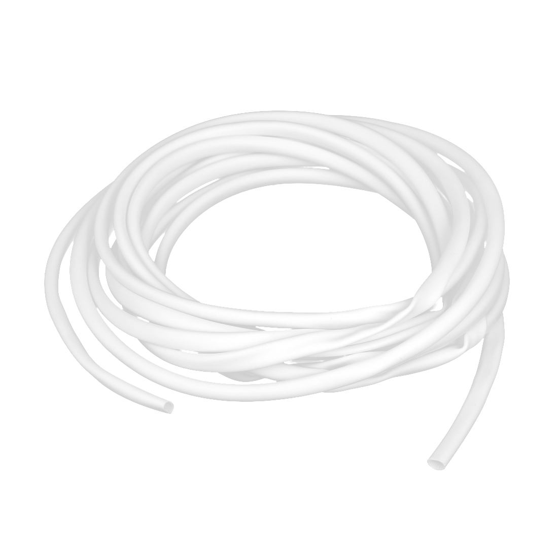 White Protective PVC Marking Tube Sleeve Sleeving 5mm x 5m for Cable Wire