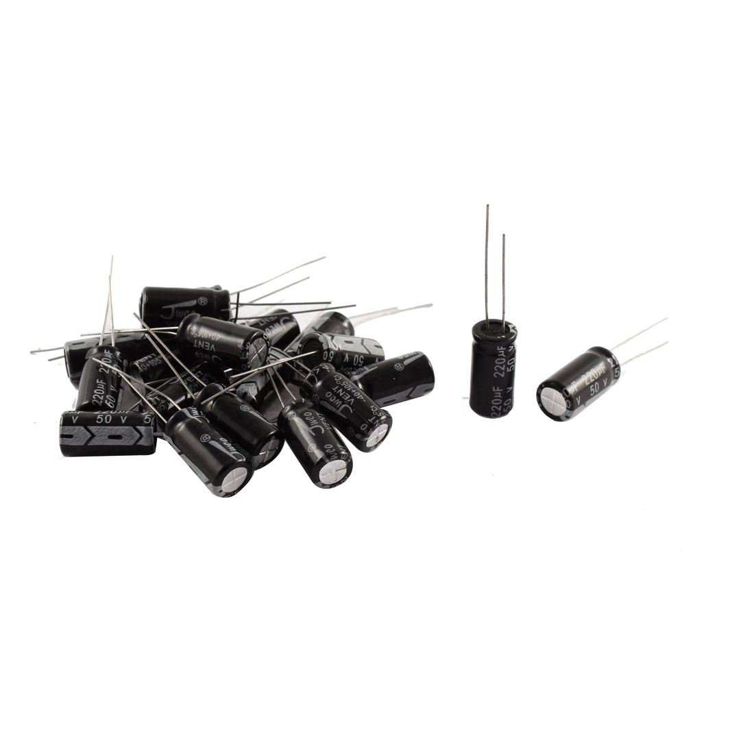 20Pcs 50V 220uF 105C Radial Lead Electrolytic Capacitor 8mm x 12mm