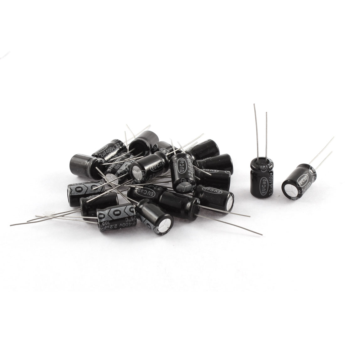 20Pcs 400V 2.2uF 105C Radial Lead Electrolytic Capacitor 8mm x 12mm