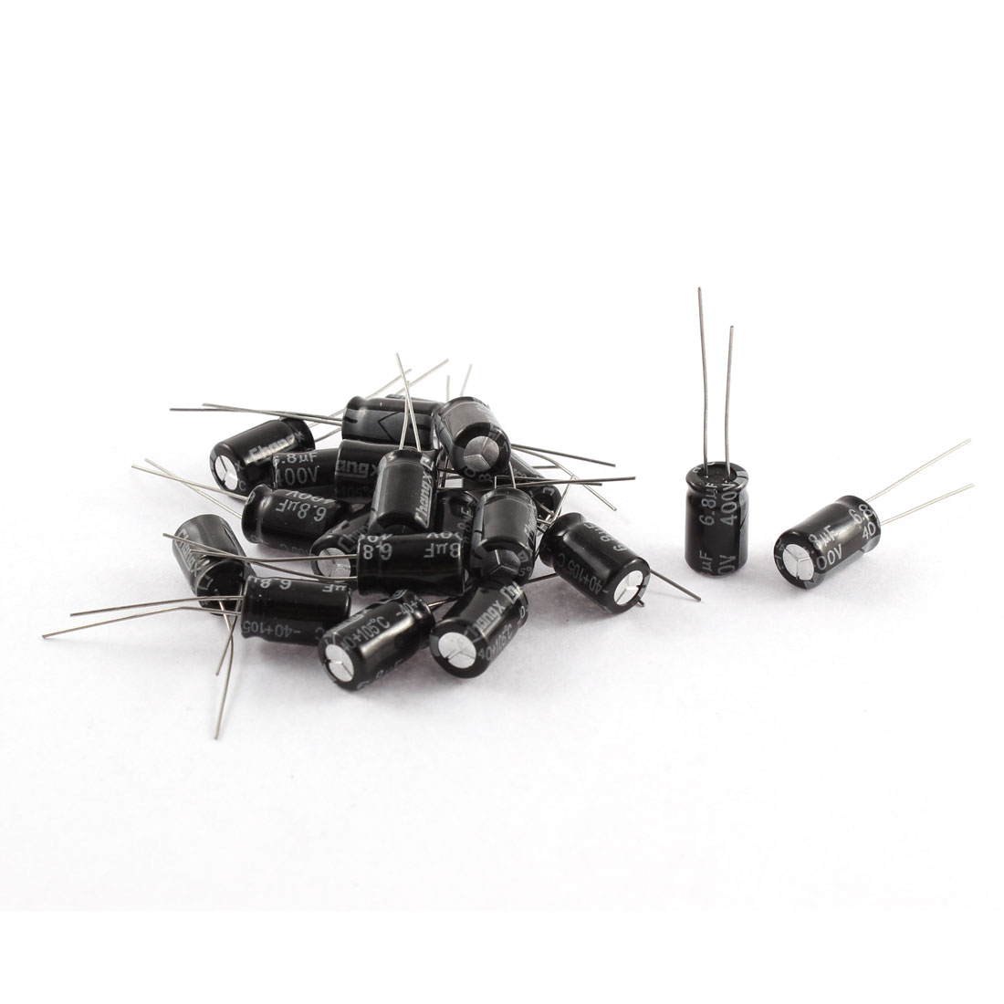 20Pcs 400V 6.8uF 105C Radial Lead Electrolytic Capacitor 8mm x 12mm
