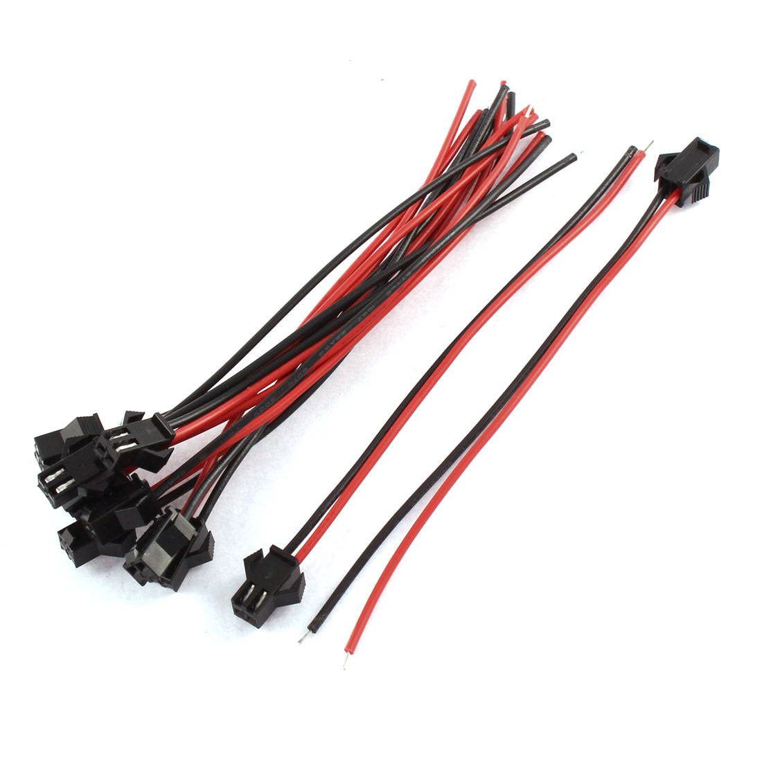 10Pcs 2P Male JST-SM Connector Cable for Programmable LED Strings