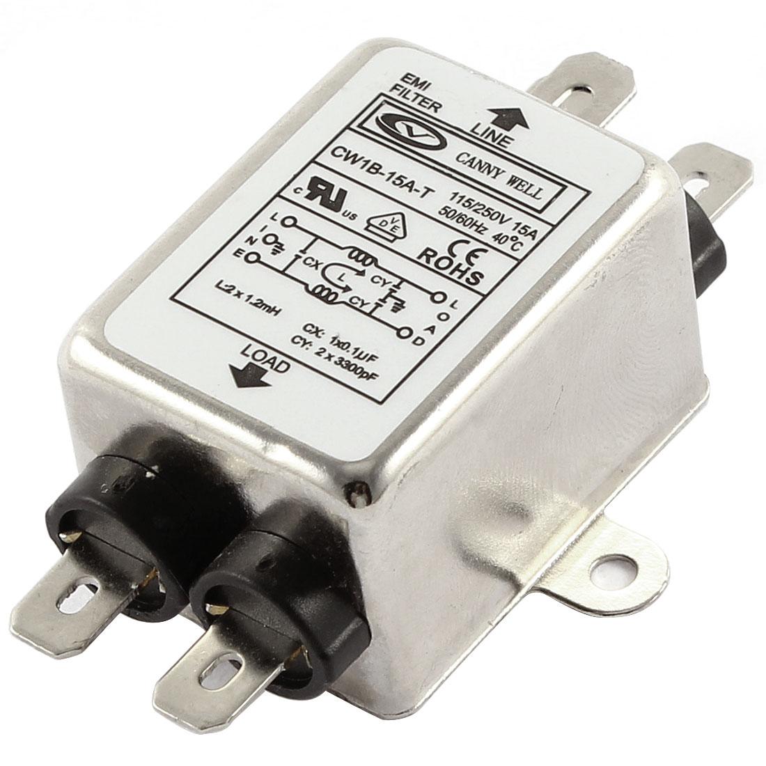AC 115/250V 15A CW1B-15A-T Noise Suppressor Power EMI Filter