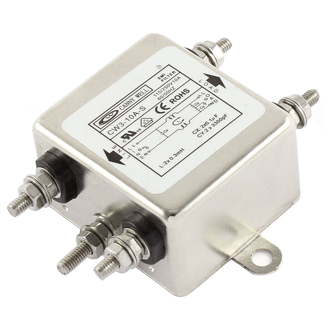 AC 115/250V 10A CW3-10A-S Noise Suppressor Power EMI Filter