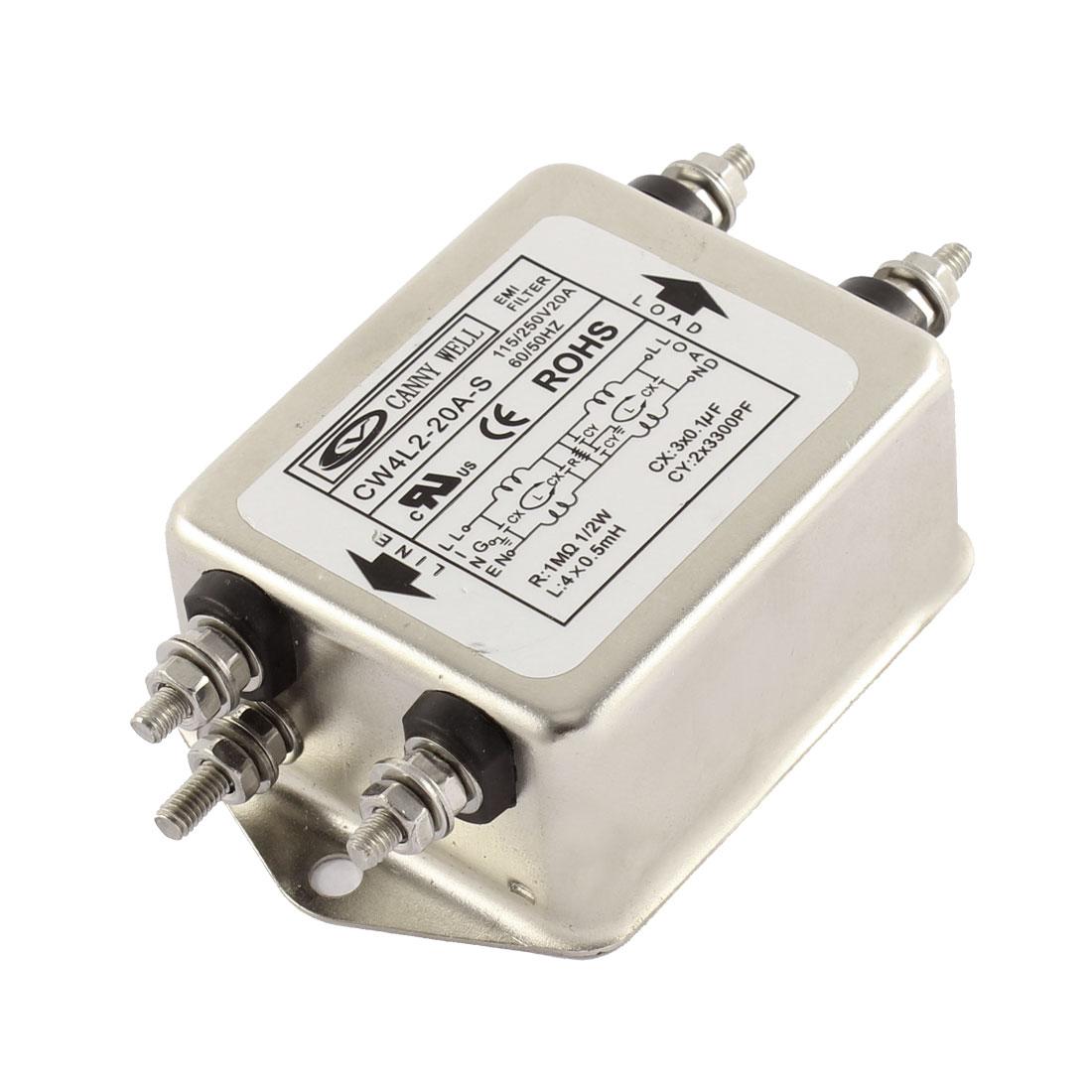 AC 115/250V 20A CW4L2-20A-S Noise Suppressor Power EMI Filter
