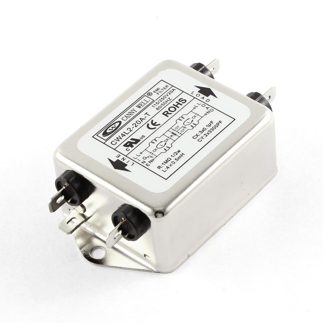 AC 115/250V 20A CW4L2-20A-T Noise Suppressor Power EMI Filter