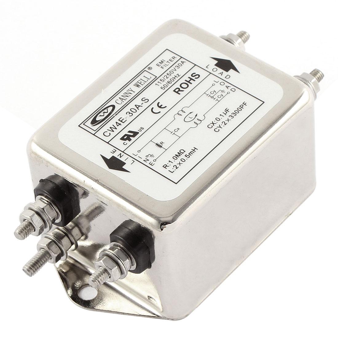 AC 115/250V 30A CW4E-30A-S Noise Suppressor Power EMI Filter