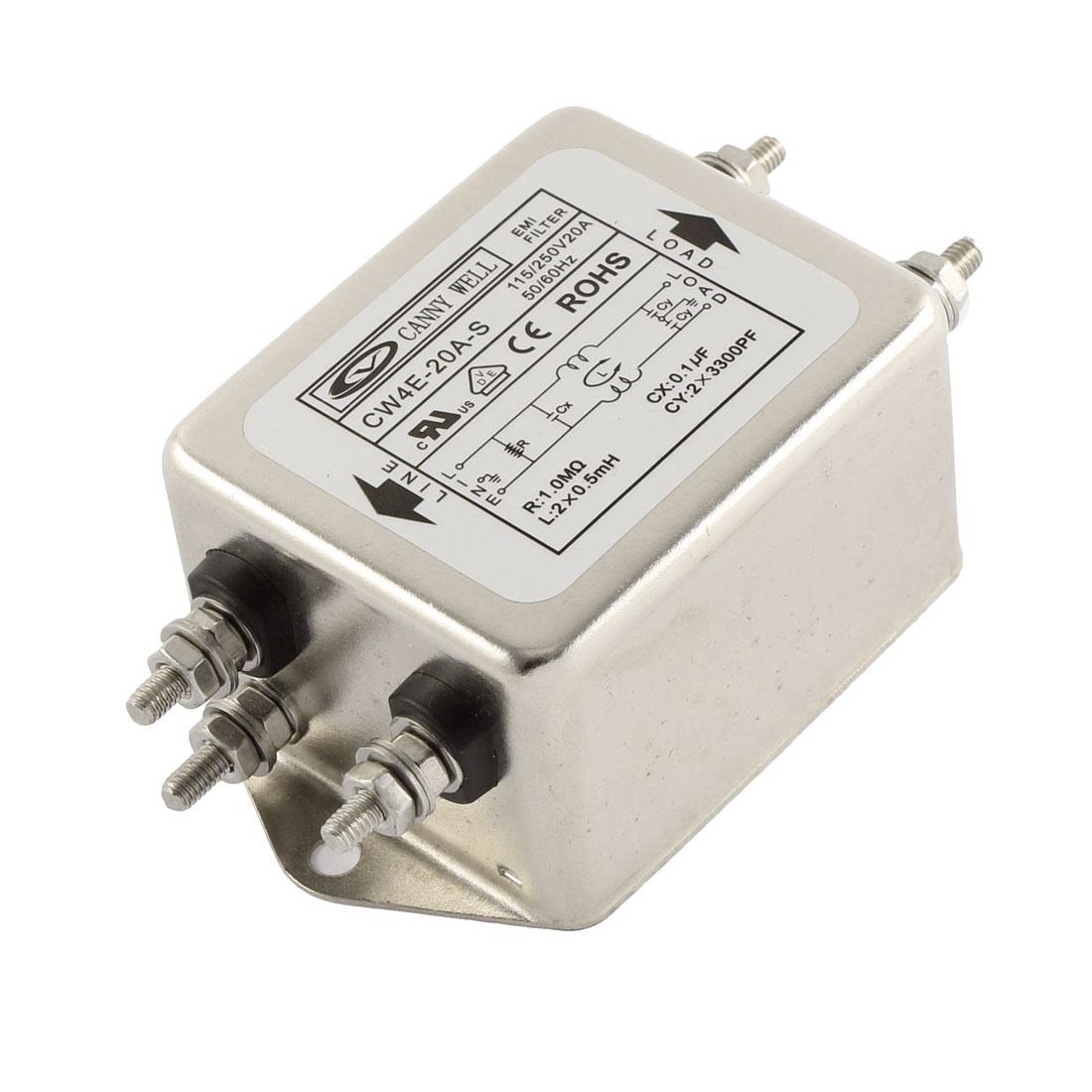 AC 115/250V 20A CW4E-20A-S Noise Suppressor Power EMI Filter