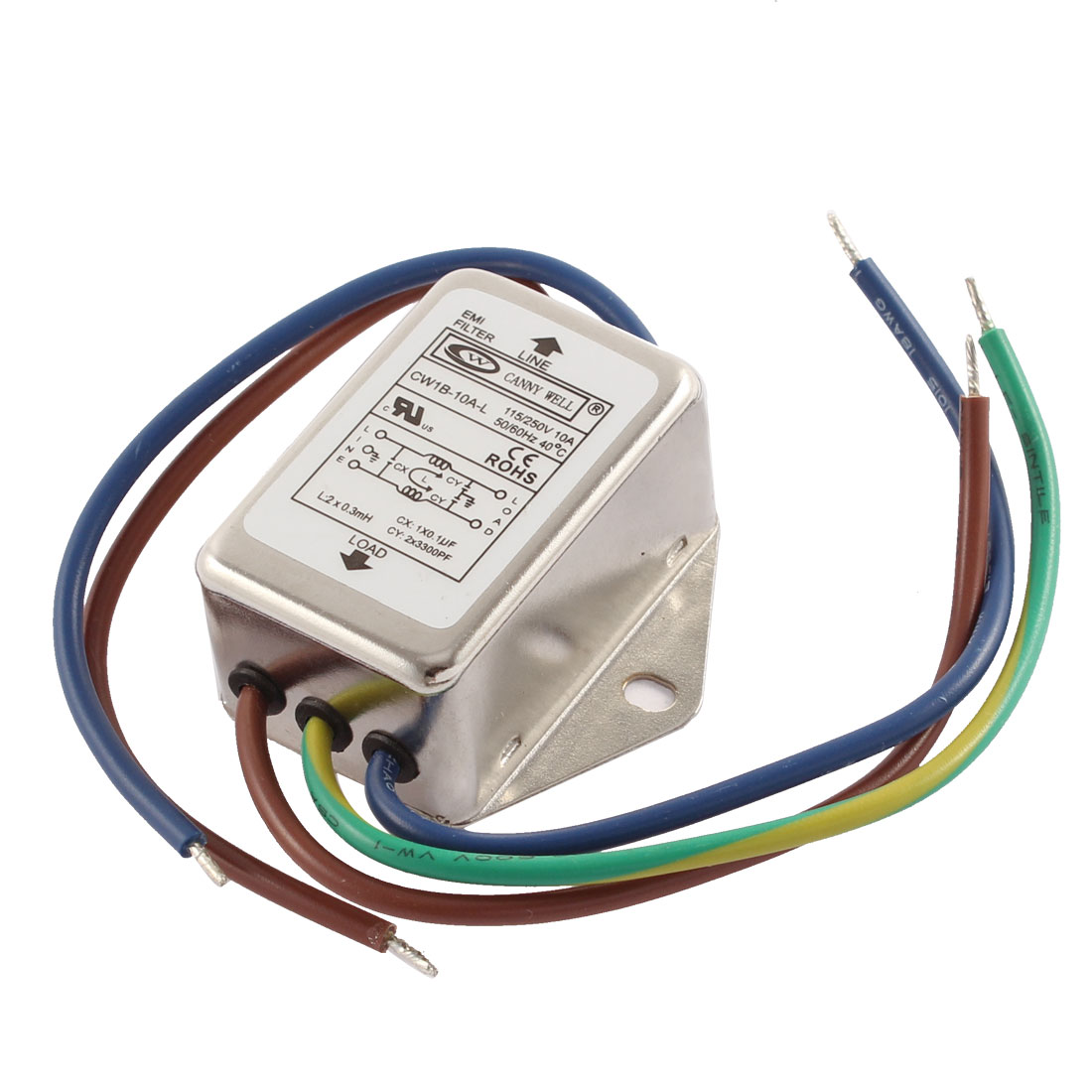 AC 115/250V 10A CW1B-10A-L Noise Suppressor Power EMI Filter