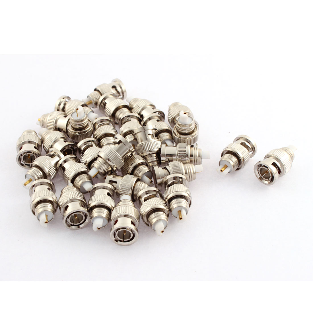 30Pcs BNC Male Connector Adapter for CCTV Camera