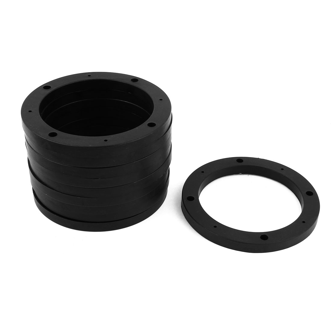 "Plastic Car Auto 5"" Inner Dia Speaker Spacers Mat 10Pcs Black"