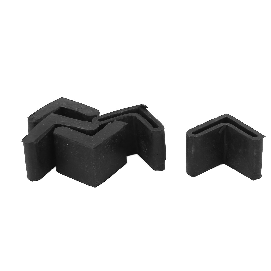 Rubber Triangle Furniture Leg Foot Protection Pad 25mmx25mm 5Pcs Black