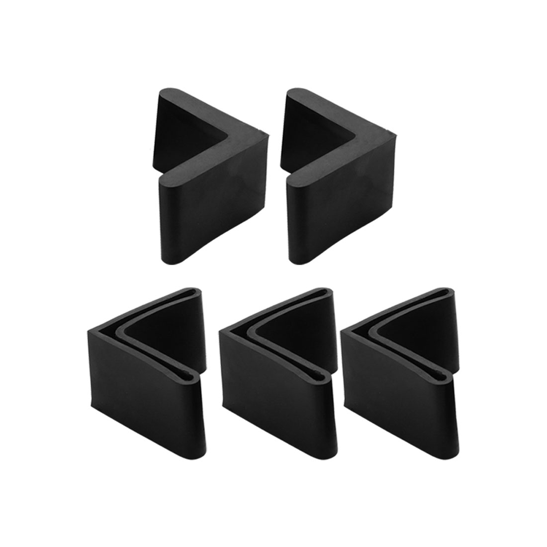Rubber Triangle Furniture Leg Foot Protection Pad 40mmx40mm 5Pcs Black