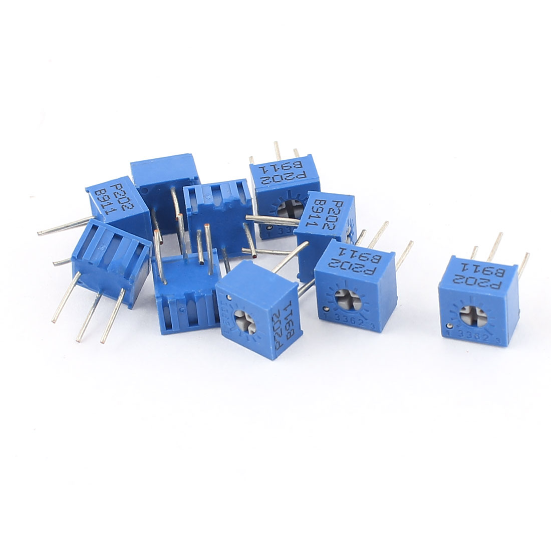 10Pcs Adjustable Potentiometer Trimmer Variable Resistor 3362P-202