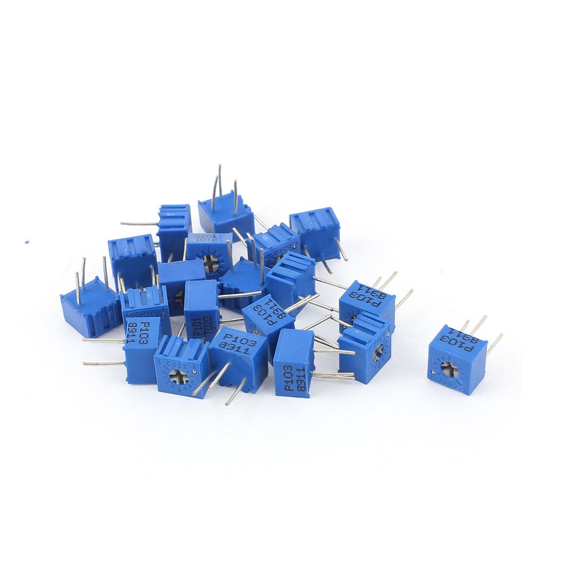 20Pcs Potentiometer Trimmer Variable Resistor 3362P-103 3362P-101