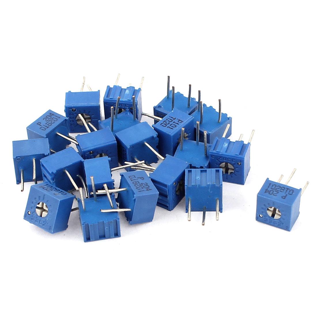 20Pcs Potentiometer Trimmer Variable Resistor 3362P-101 3362P-204