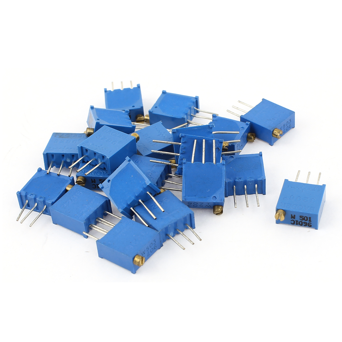 20Pcs 3296W-501 3296W-503 Resistor Trim Pot Potentiometer Trimmer