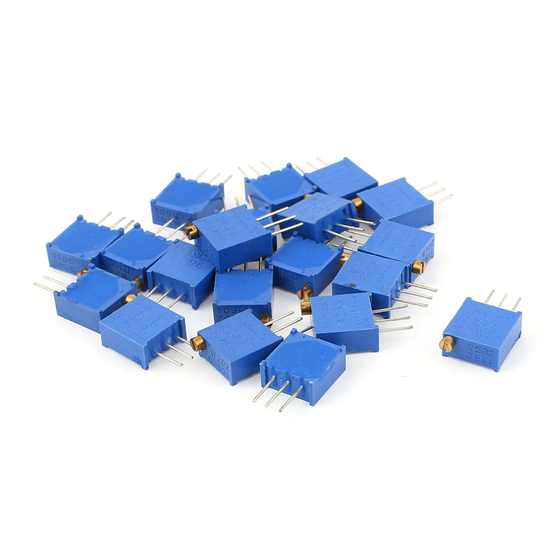 20Pcs 3296W-202 3296W-502 Resistor Trim Pot Potentiometer Trimmer