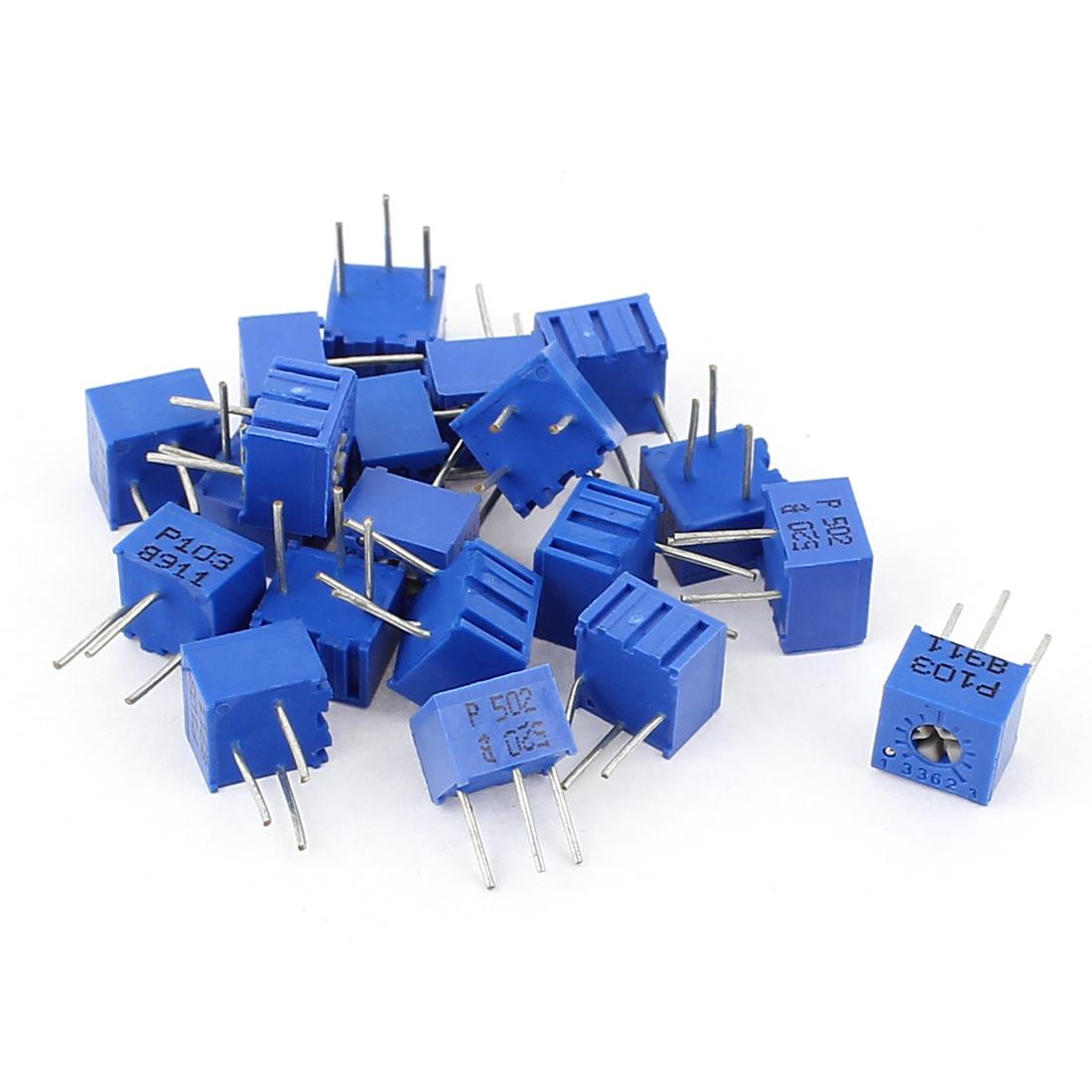 20Pcs Potentiometer Trimmer Variable Resistor 3362P-502 3362P-103