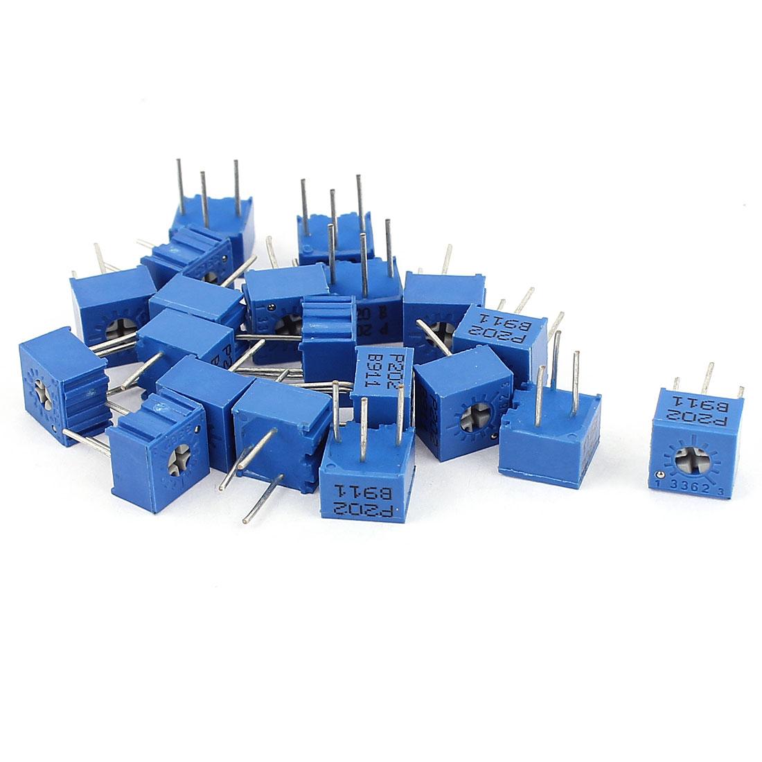 20Pcs Potentiometer Trimmer Variable Resistor 3362P-202 3362P-203