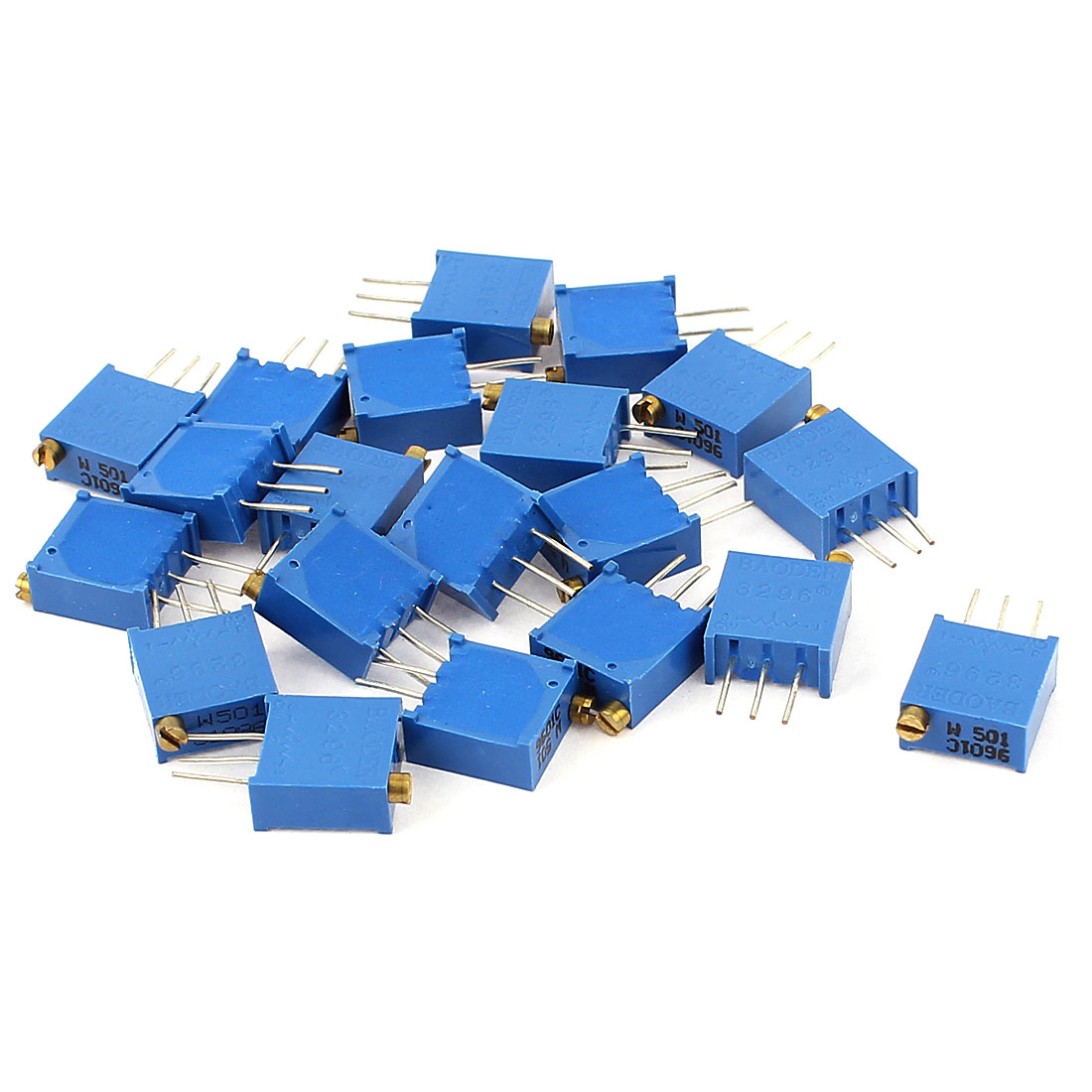 20Pcs 3296W-501 500 Ohm Resistor Trim Pot Potentiometer Trimmer Blue