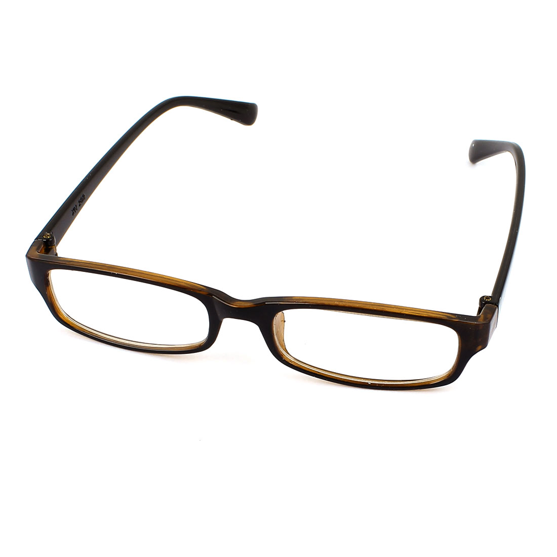 Full Plastic Frame Single Bridge Eyeglasses Eyewear Plain Glasses Black