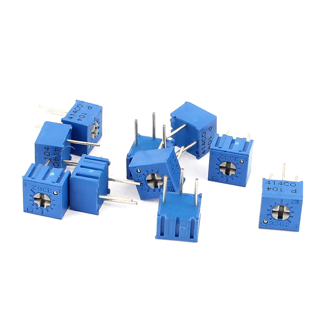 10Pcs Adjustable Potentiometer Trimmer Variable Resistor 3362P-104