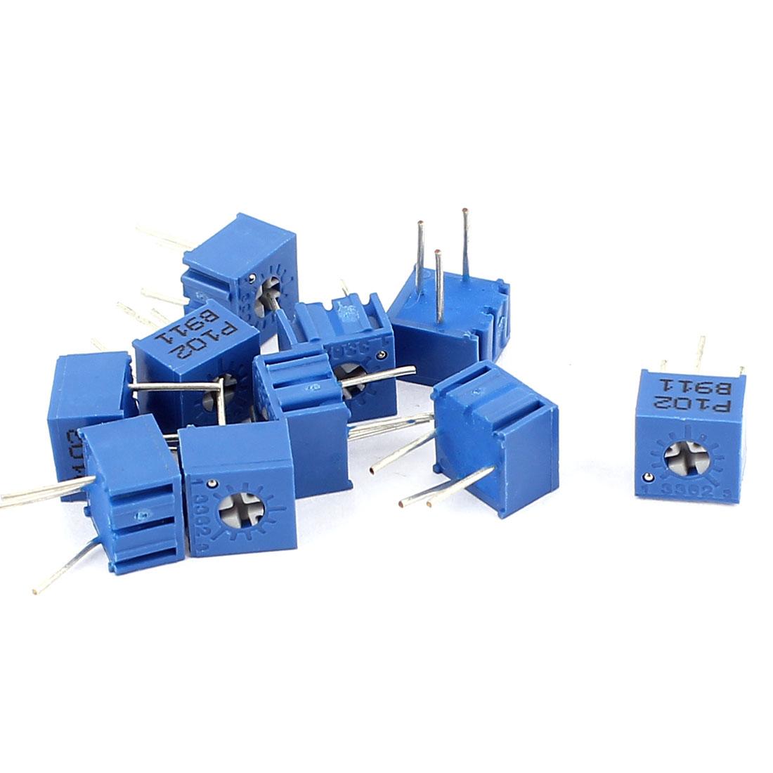 10Pcs Adjustable Potentiometer Trimmer Variable Resistor 3362P-102 10K Ohm