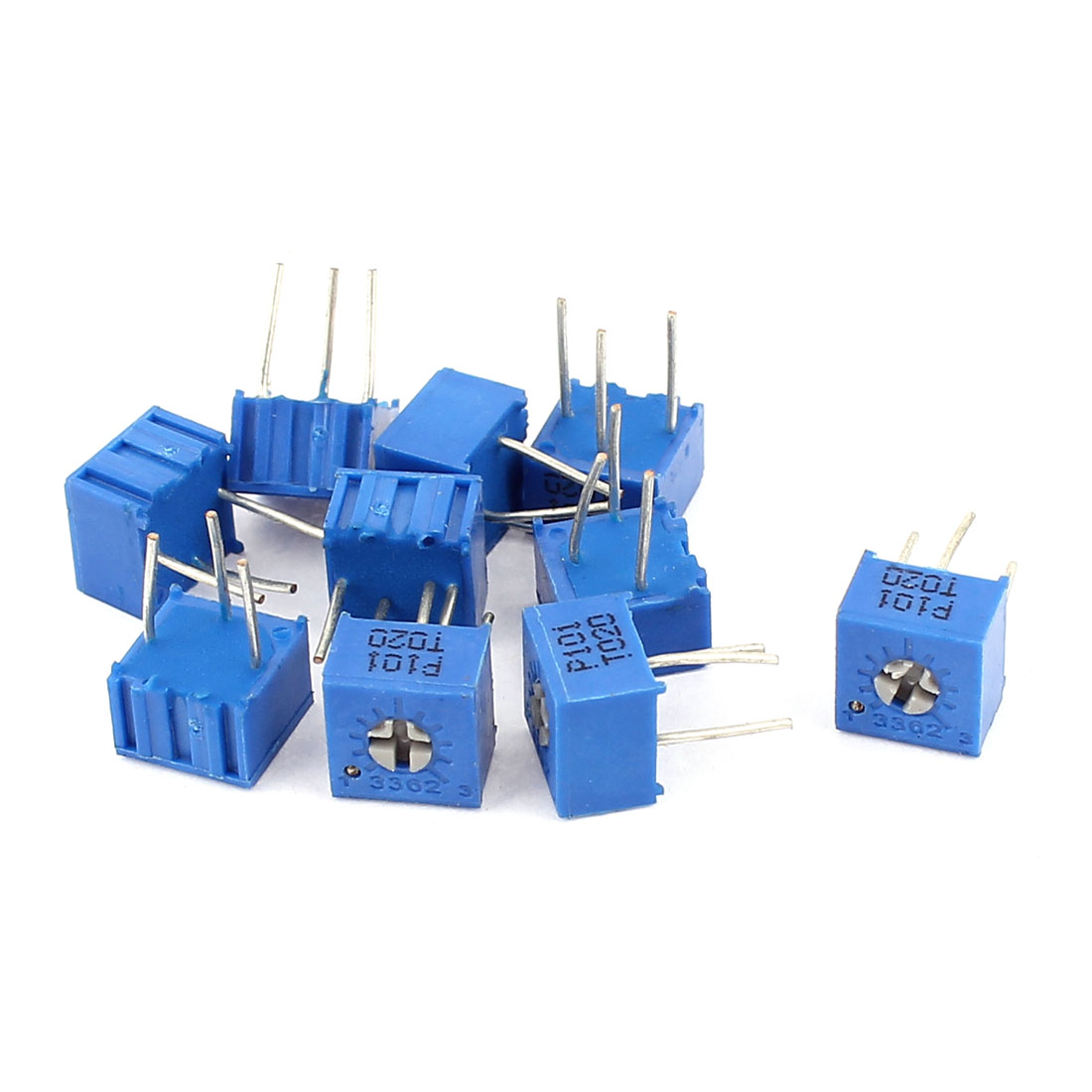 10Pcs Adjustable Potentiometer Trimmer Variable Resistor 3362P-101