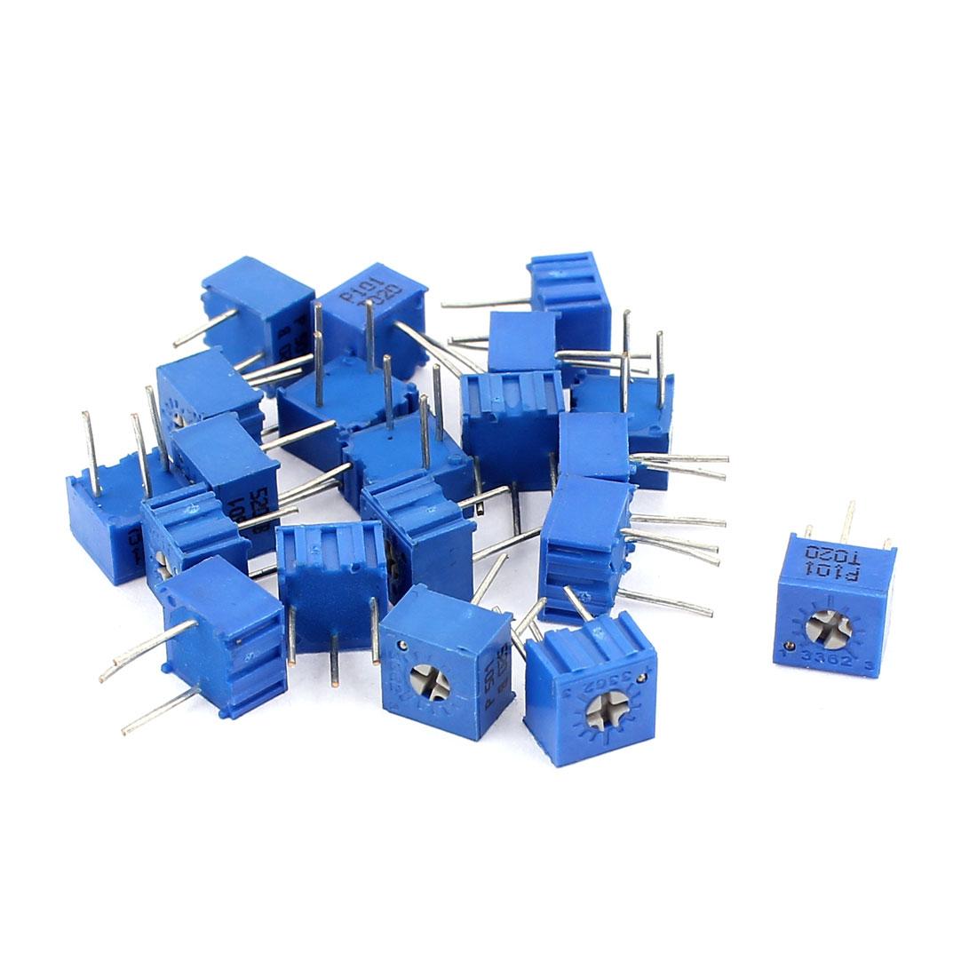 20Pcs Potentiometer Trimmer Variable Resistor 3362P-501 3362P-101