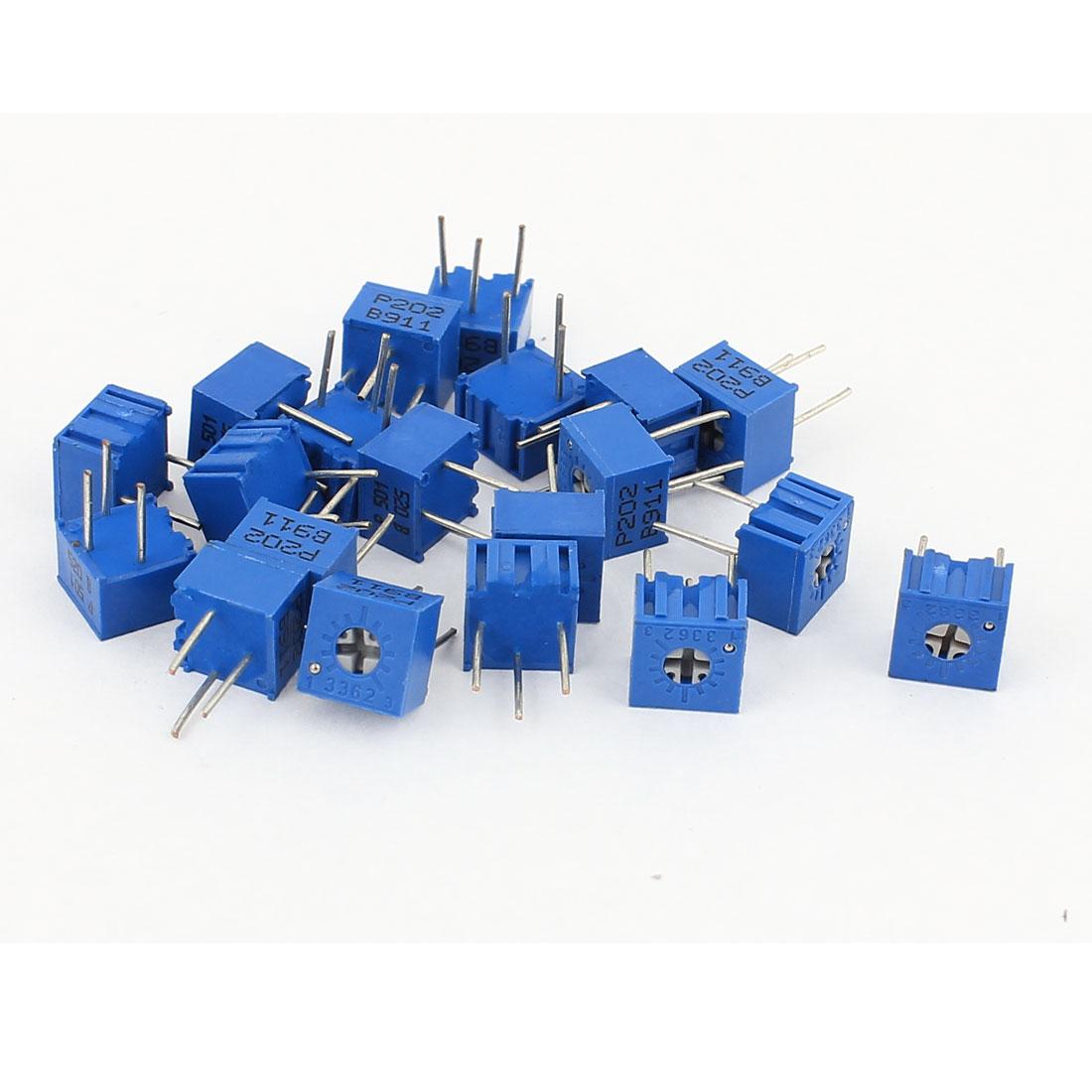 20Pcs Potentiometer Trimmer Variable Resistor 3362P-501 3362P-202