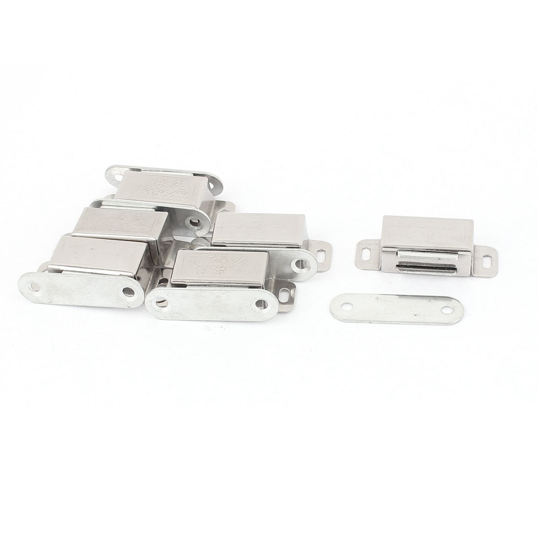 6Pcs Stainless Steel Hardware Cabinet Door Magnetic Catch Latch