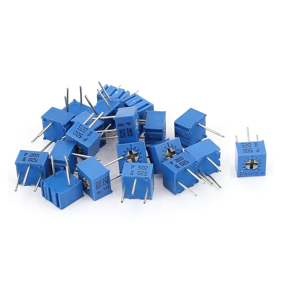 20Pcs Potentiometer Trimmer Variable Resistor 3362P-203 3362P-502