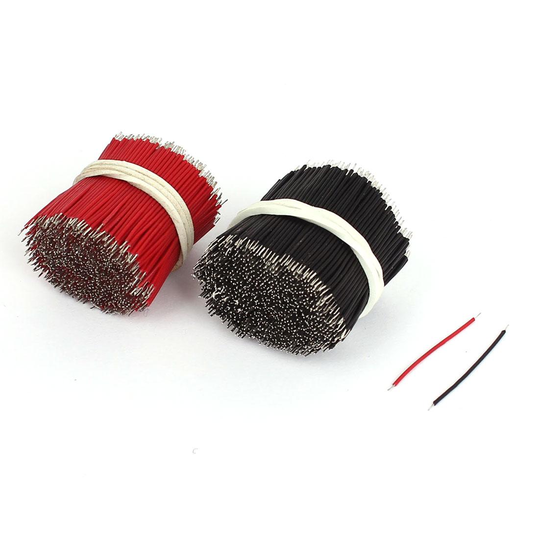 1000 Pcs Flexible Dual End Connector Core Power Cord Wire 2.5cm x 0.1cm
