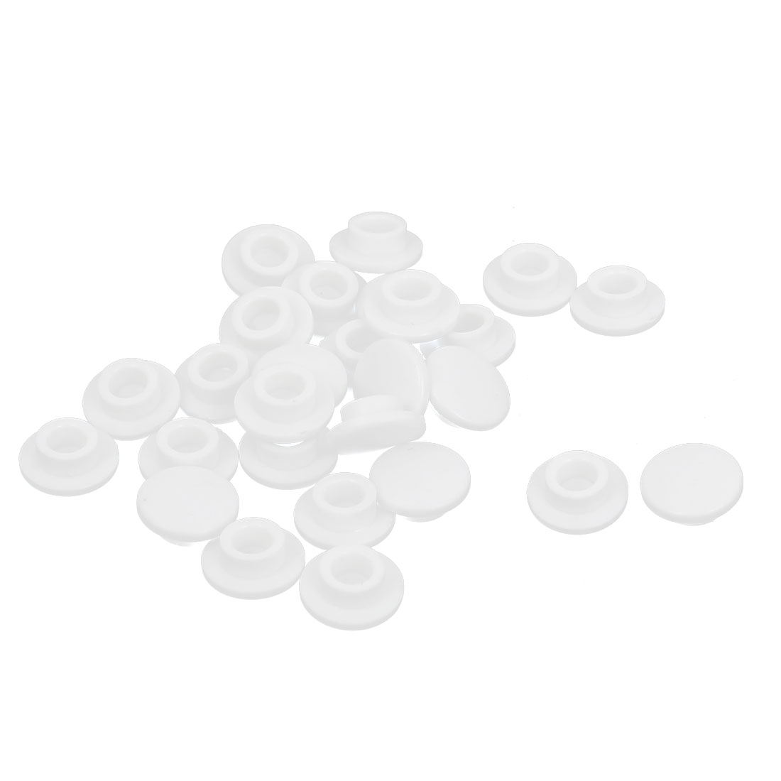 27Pcs 3.2mm Hole Dia White Plastic Pushbutton Tactile Switch Caps Cover
