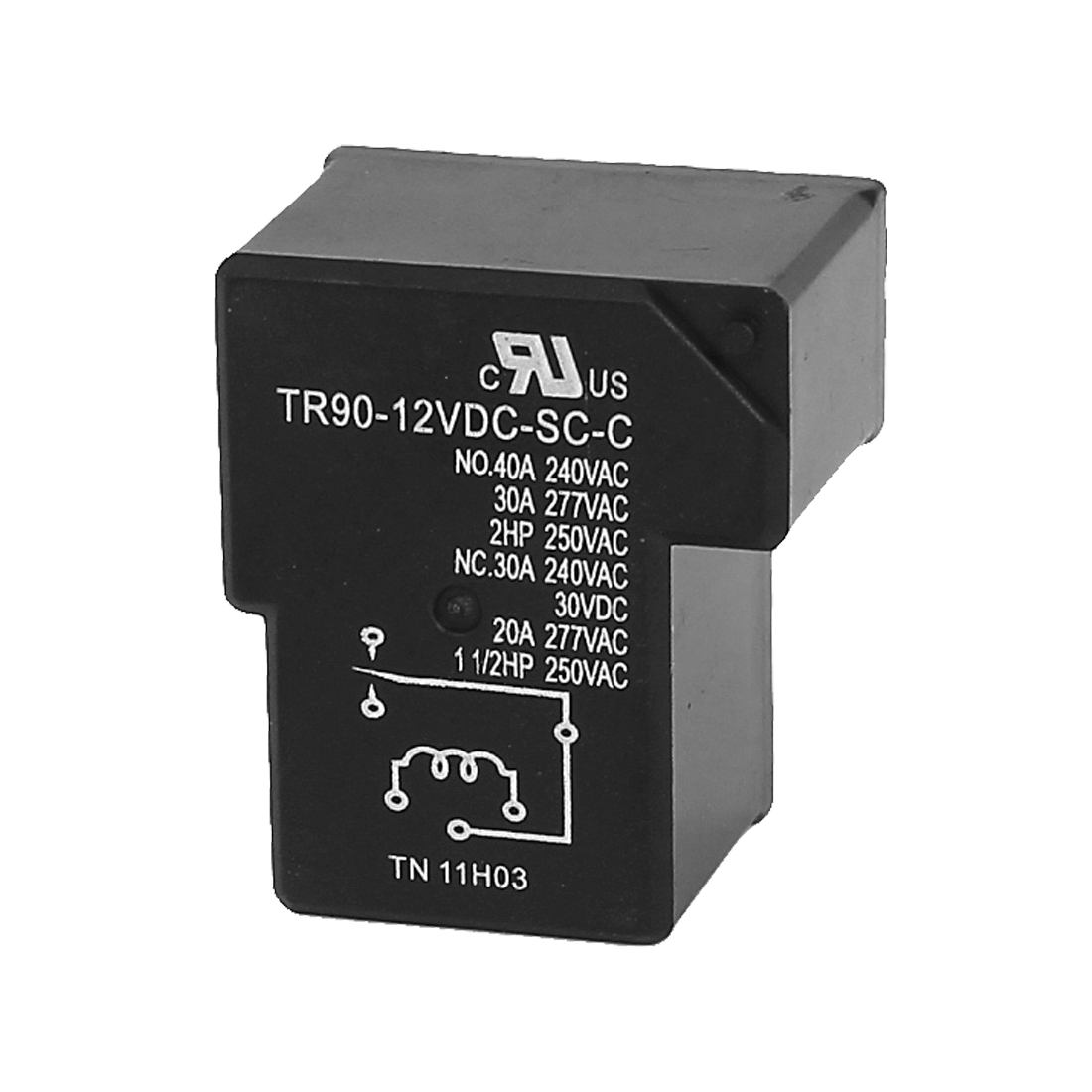 DC 12V Coil 6 Pins Terminal 1NO 1NC PCB Mount Electromagnetic Power Relays TR90-12VDC-SC-C