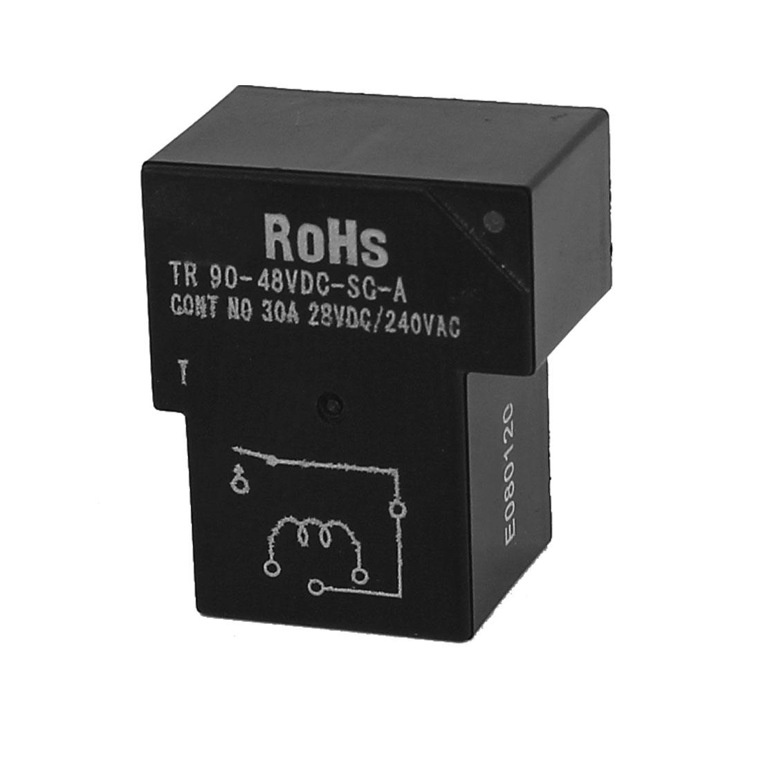 DC 48V Coil 5 Pins Terminal 1NO PCB Mount Electromagnetic Power Relays TR90-48VDC-SC-A