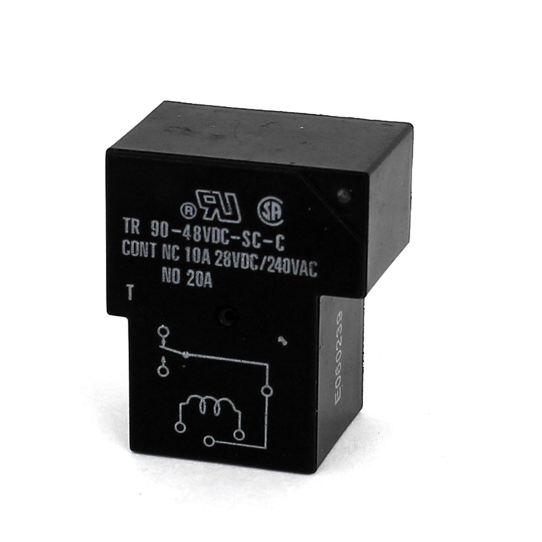 DC 48V Coil 6 Pins Terminal 1NO 1NC PCB Mount Electromagnetic Power Relays TR90-48VDC-SC-C