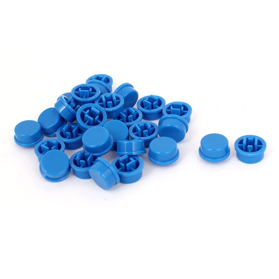 28Pcs Blue Plastic Touch Tactile Switch Button Protect Cover Caps