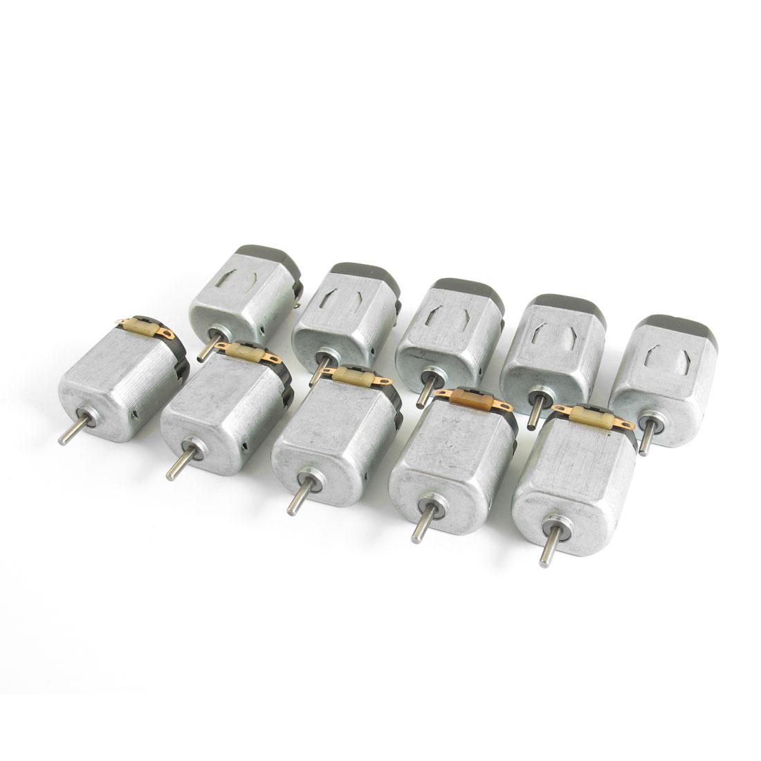 DC 1.5-6V 15000RPM 2mm x 9mm Shaft Micro Motor 10Pcs for DIY Hobby Toys
