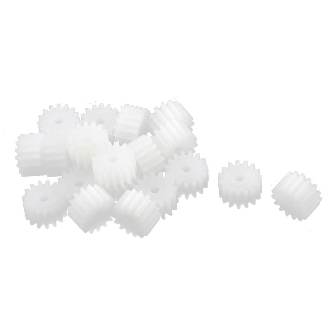 20Pcs 2mm Aperture Plastic DIY Model 15 Teeth Spur Gear 8mm x 5mm