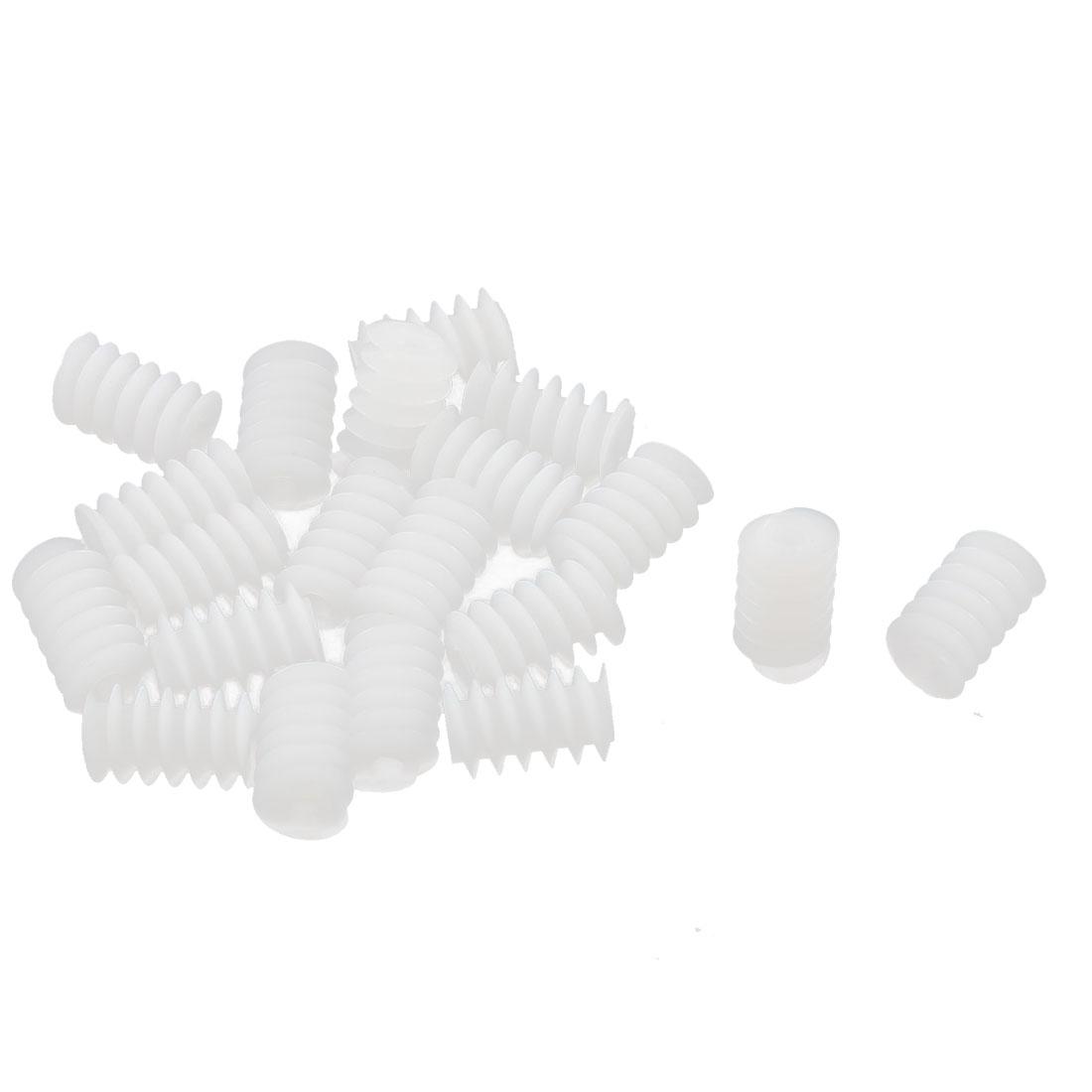 20Pcs 2mm Aperture Plastic Spur Gear 10mm x 6mm DIY Model Accessory
