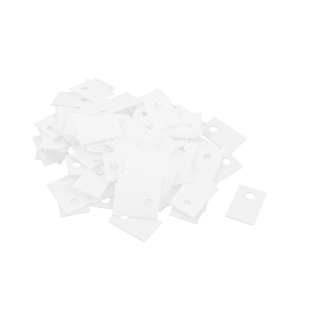 100Pcs 12x18mm Ceramic Insulator Plates Sheet for Transistor Heat Sink