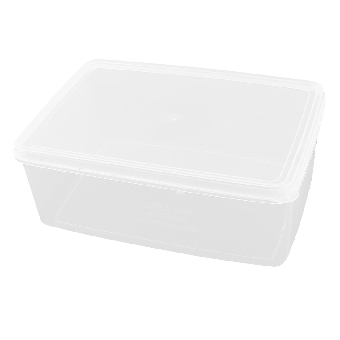 Portable Airtight Container Kitchen Ware Fridge Crisper Clear 220mmx150mmx80mm