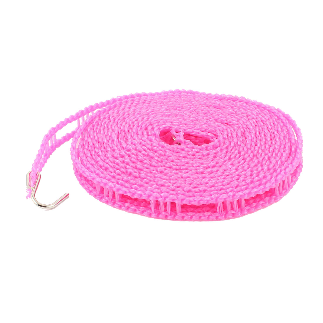 Outdoor Travel Clothesline Laundry Non-slip Washing Clothes Line Rope Fuchsia