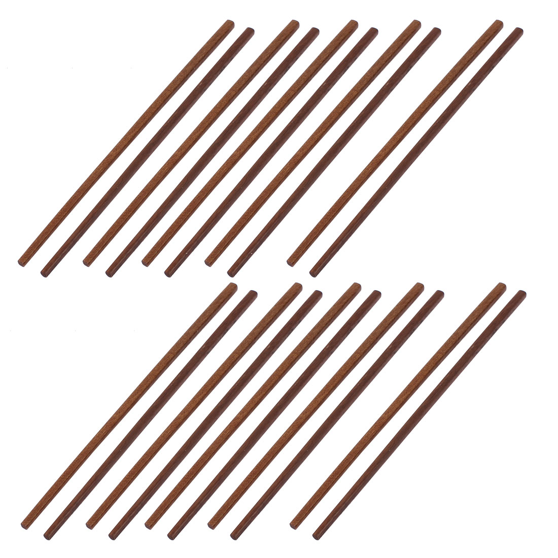 10 Pairs Kitchen Chinese Dinner Eco-friendly Wooden Chopsticks Brown